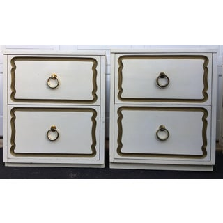 Dorothy Draper Espana Style Hollywood Regency Nightstands, Pair Preview