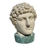 Image of 1980s Neoclassical Head of Greek Youth in Plaster Sculpture For Sale