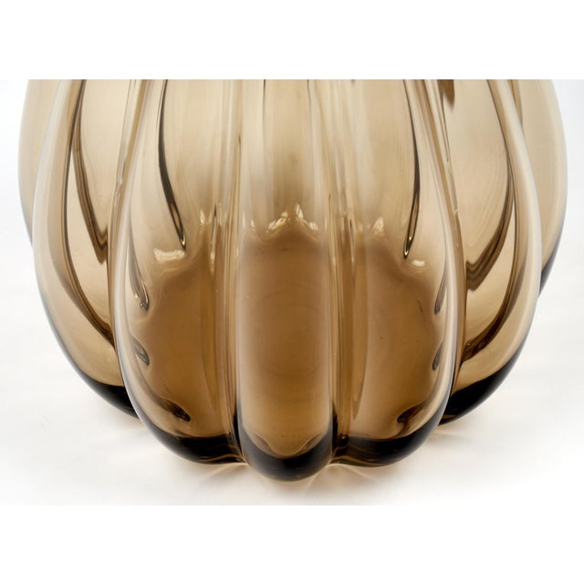 Large Murano Smoked Glass Vase For Sale - Image 9 of 10