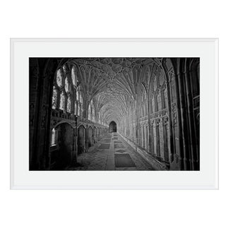 'Gloucester Cathedral' Black & White Photograph Framed and Matted Print on Rag Paper by M. Beck For Sale