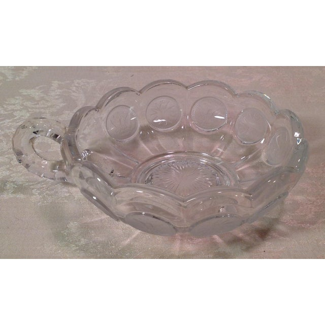 Mid-Century Modern Fostoria Olympic Coin Nappy Handled Dish - Image 2 of 7