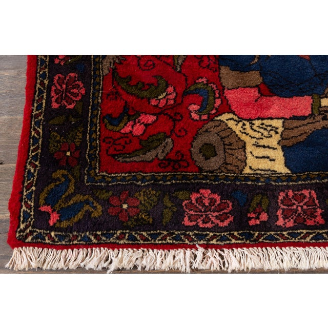 """Vintage Persian Rug, 2'2"""" X 3'4"""" For Sale - Image 4 of 6"""