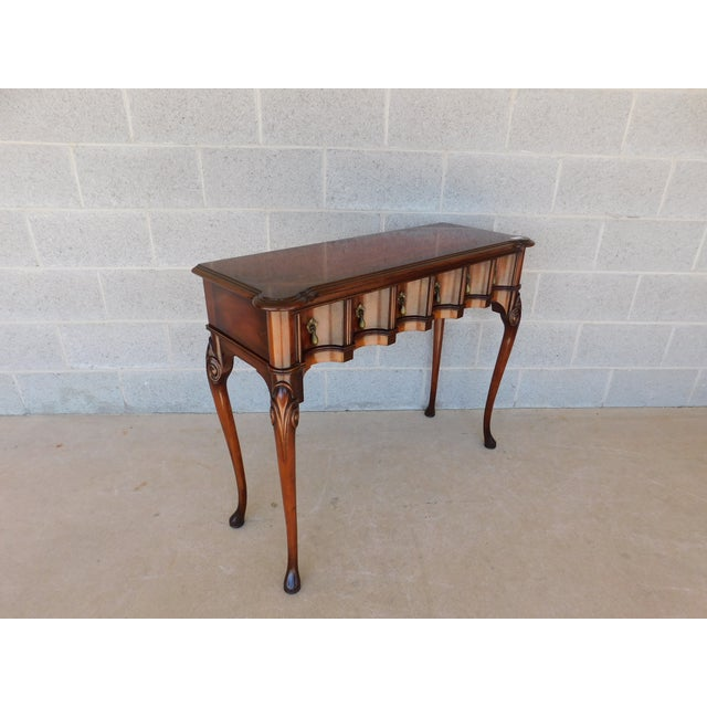 Features Quality Solid Construction, 1 Dovetailed Drawer, Solid Mahogany, Scalloped Drawer Design, Finished Front and...