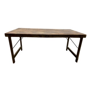 Mid 20th Century Rustic East Indian Wooden Wedding Table For Sale