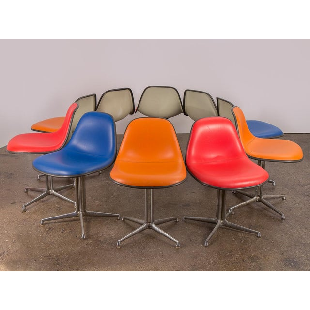 Silver Red La Fonda Eames Chair for Herman Miller For Sale - Image 8 of 11