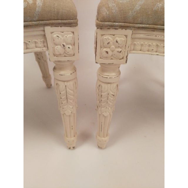 White French Cane Back Chairs - Set of 3 For Sale - Image 7 of 9