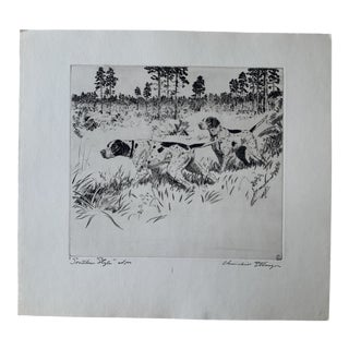 1950s Dogs and Landscape Limited Edition Aritist Proof Print by Churchill Ettinger For Sale