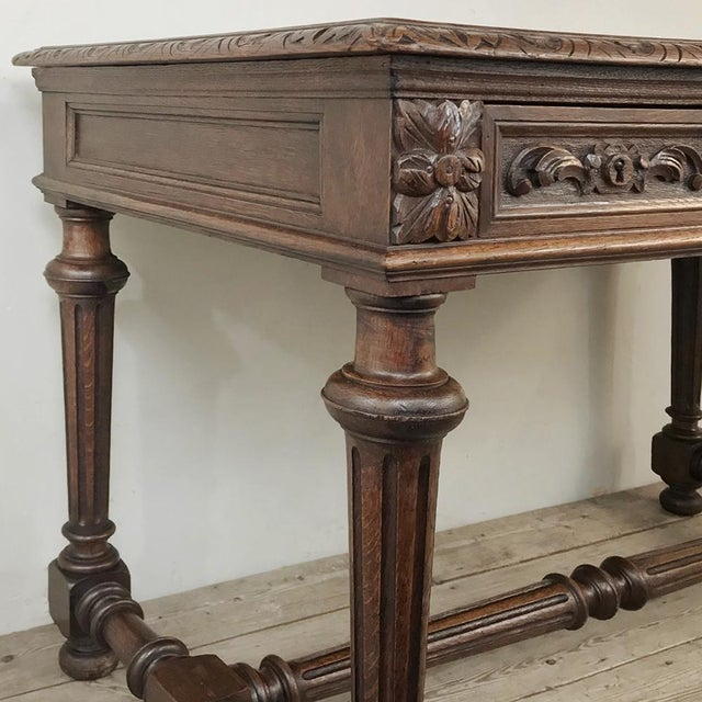 19th Century French Renaissance Writing Table For Sale - Image 9 of 13