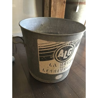 Vintage Mid-Century French Metal Laundry Tub Preview