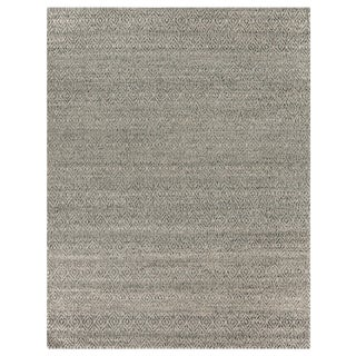 Sanz Flatweave Wool Silver Rug - 12'x15' For Sale