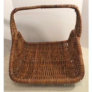 Large Vintage Natural Wicker Flower Basket Preview