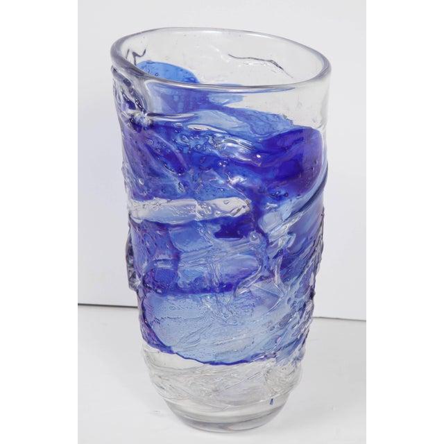 Italian Murano Glass Vase For Sale - Image 3 of 11