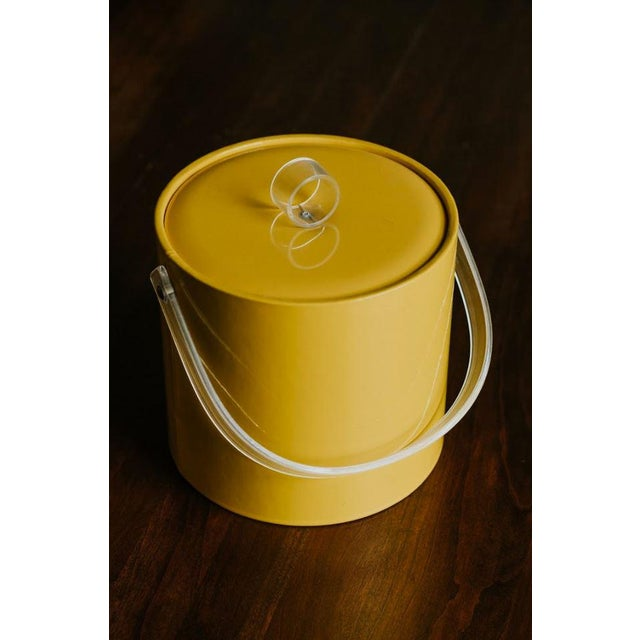 Retro Vinyl Yellow Ice Bucket For Sale - Image 9 of 9
