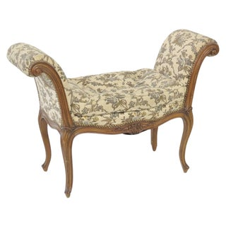 French Style Carved Window Seat For Sale
