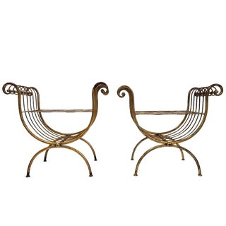 Pair of Italian Gilt Benches