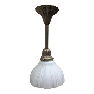 Vintage Sheffield Nickel Pendant Fixture For Sale