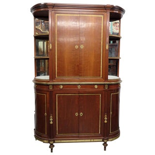 19thC Directoire Style China Cabinet For Sale