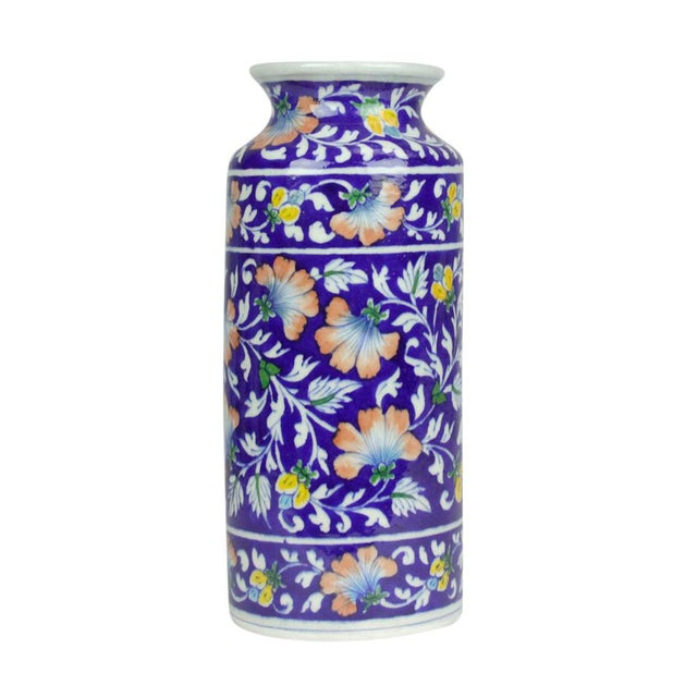 Navy Jaipur Vase - Image 4 of 5
