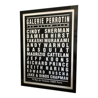 "André Saraiva Limited Edition ""Dream Team"" Signed Screen Print From Art Basel Framed For Sale"