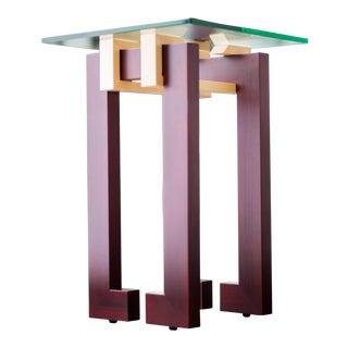 Walnut Maple Side Table