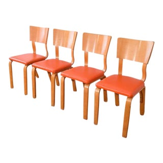 Mid-Century Thonet Bentwood Plywood Chairs - Set of 4