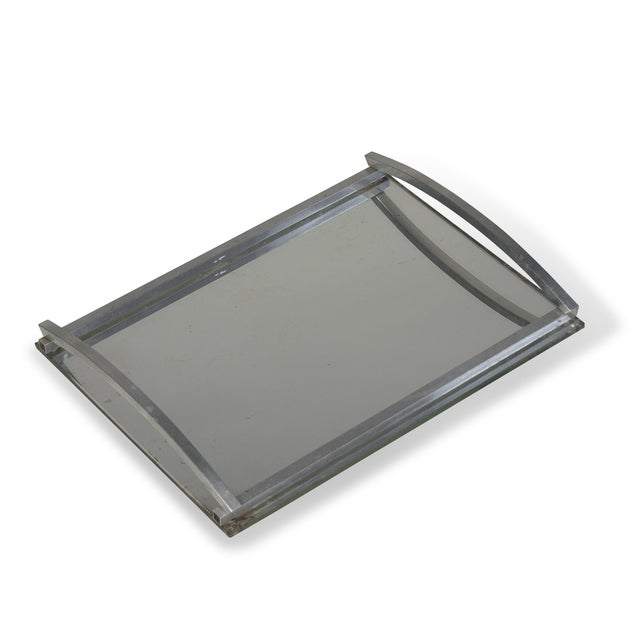 1930s Matte Nickel Frame Serving Tray - Image 3 of 9