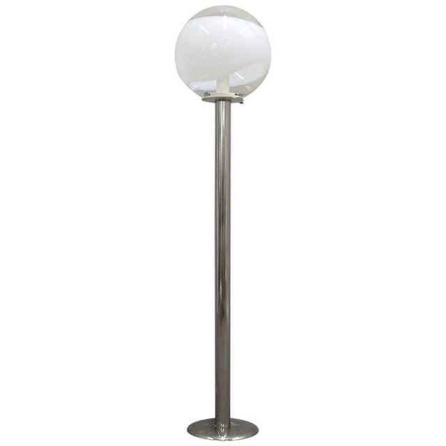 1960s Mazzega Style Tubular Chrome and Murano Glass Floor Lamp - Image 9 of 9