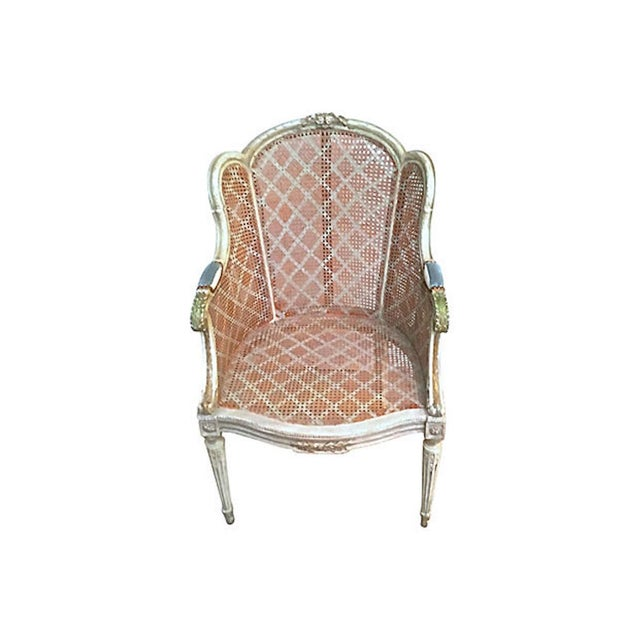 French 20th Century Antique Wingback Chair For Sale - Image 3 of 12