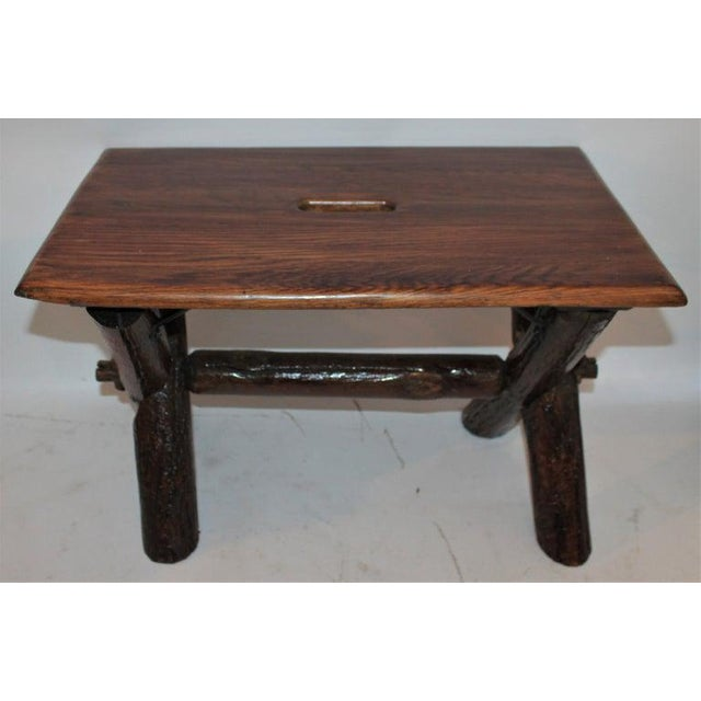 Rustic Old Hickory Furniture Co. Bench For Sale - Image 3 of 11