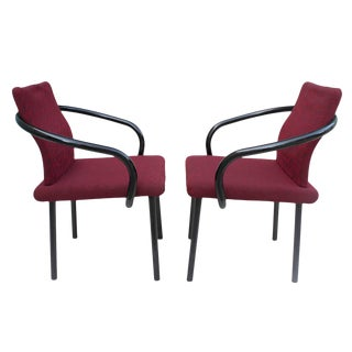 Pair of 1980s Ettore Sottsass Mandarin Side Chairs for Knoll For Sale