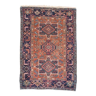 Antique Rust Heriz Persian Area Rug For Sale