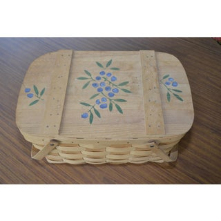 Blueberry Wooden Picnic Basket Preview