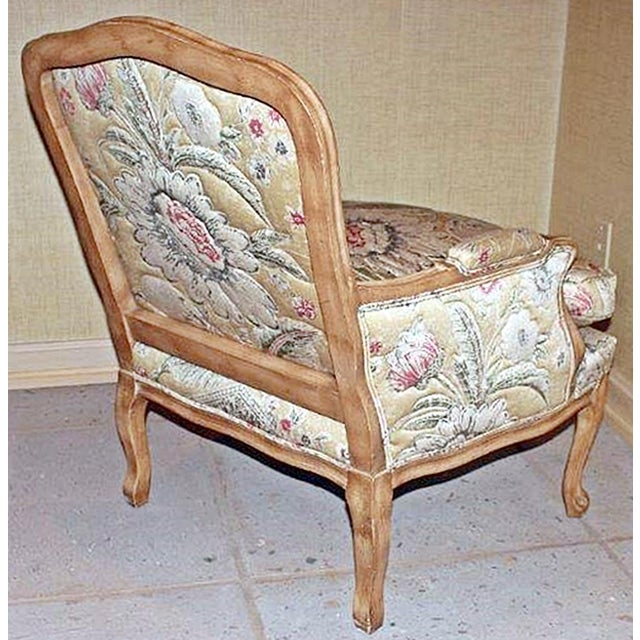 1980s Bleached Bergere Armchairs Pair For Sale - Image 5 of 7