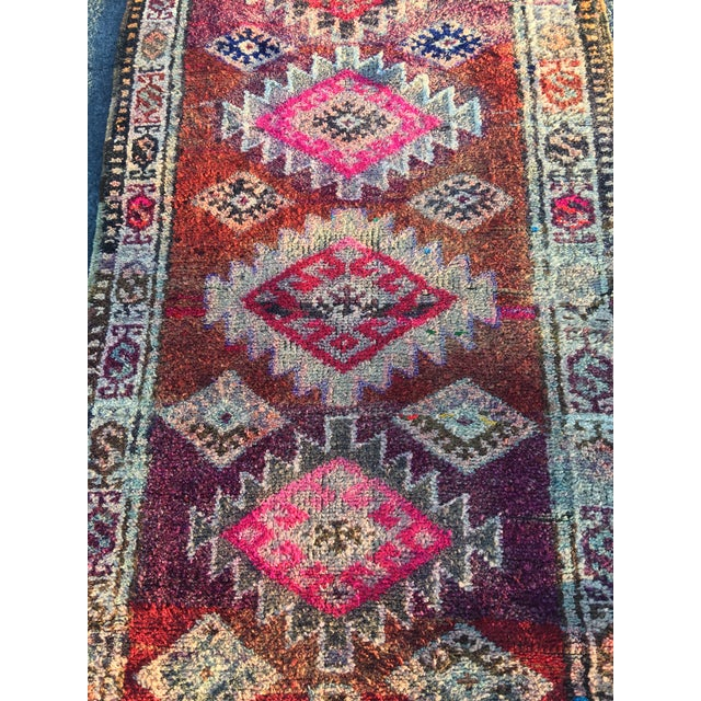 "Vintage Turkish Oushak Runner - 3' x 9'2"" - Image 5 of 11"
