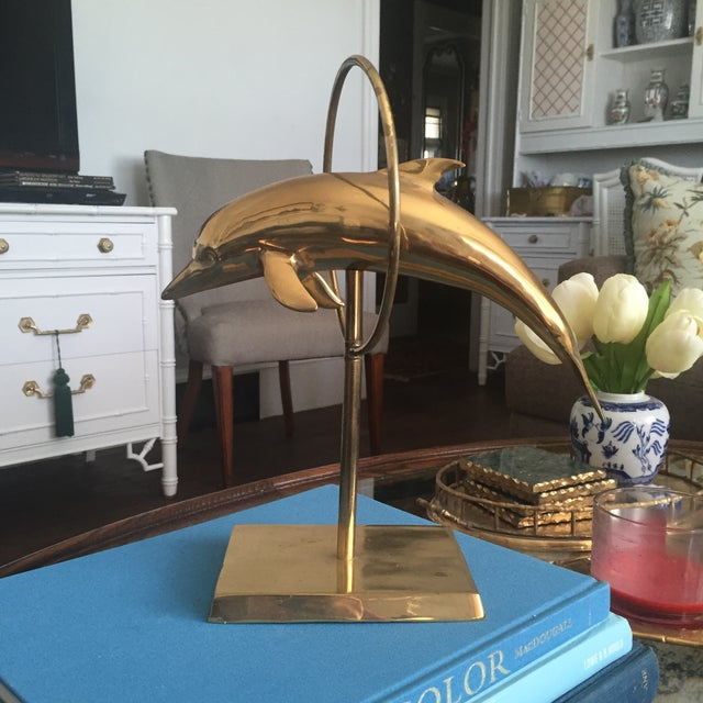 Mid Century Brass Dolphin Fish Figurine - Image 2 of 9