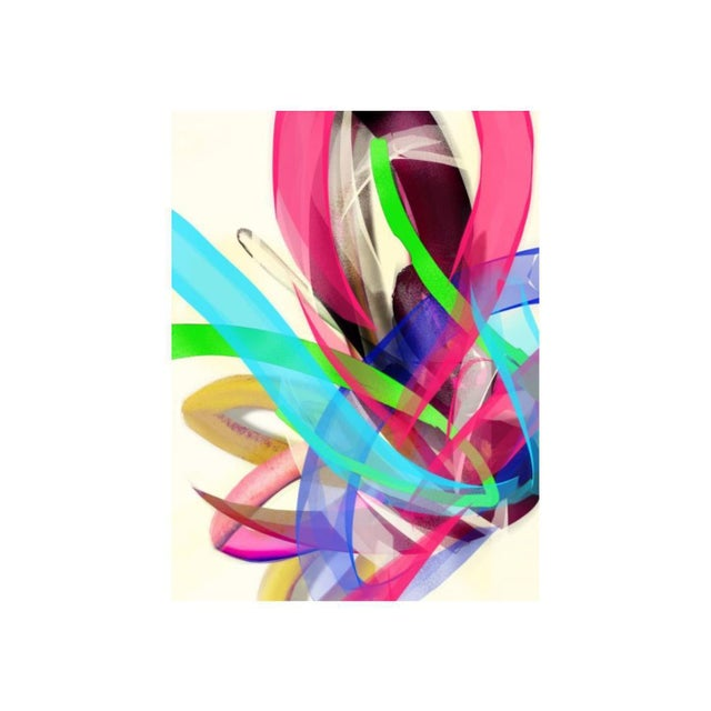 "2010s Mike Tyau ""Spring Flow"" Abstract Giclée Painting For Sale - Image 5 of 5"