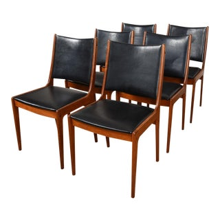 Set of 6 Johannes Andersen Danish Teak Dining Chairs for Uldum Mobelfabrik For Sale
