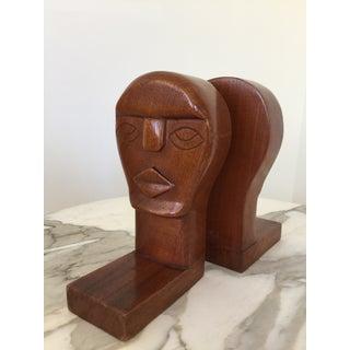 Modernist Wood Sculpture Bookends - A Pair Preview