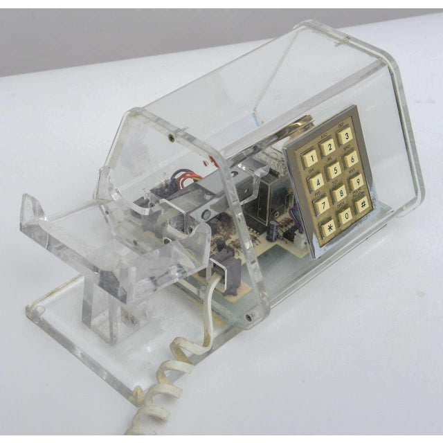 Mid-Century TeleConcepts Chrome & Lucite Phone For Sale - Image 10 of 10