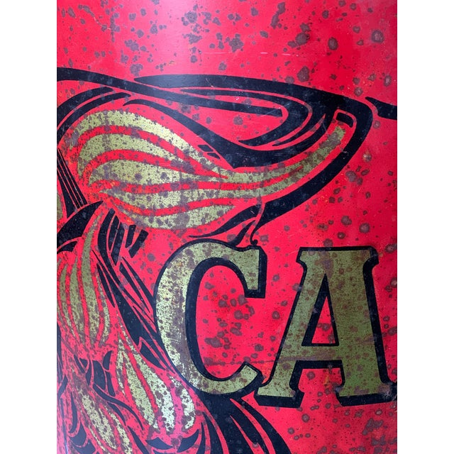 Art Deco 1920s Large French Country Store Coffee Tin For Sale - Image 3 of 11