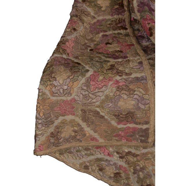 Antique Embroidered Damask Fabric For Sale In New Orleans - Image 6 of 6