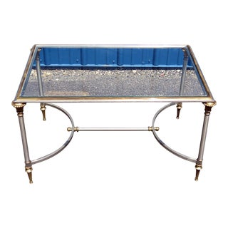 Directoire Style Glass Top Coffee Table For Sale