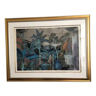Large Framed Polynesian Signed/Numbered Print For Sale