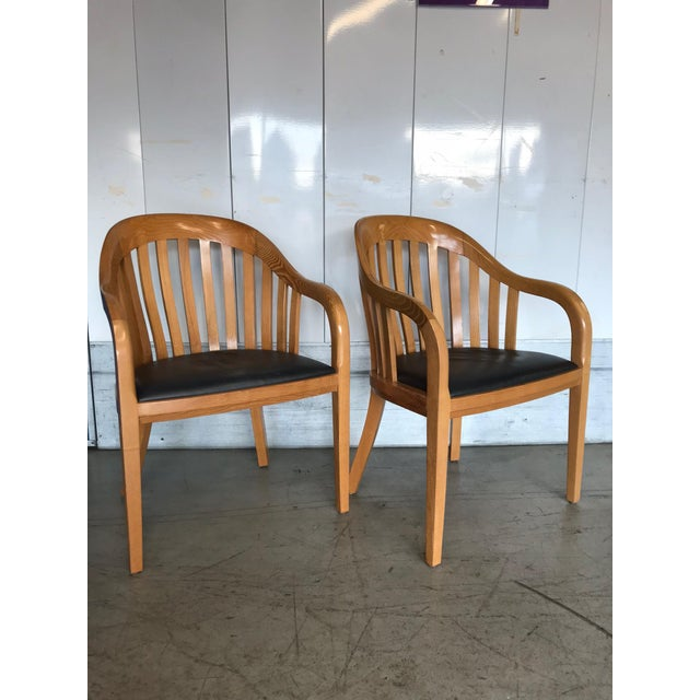 Brown Ward Bennett for Brickel Associates Rare Library Chairs - A Pair For Sale - Image 8 of 11