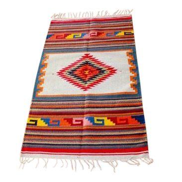 Traditional Sarape Wool Rug - Image 1 of 6