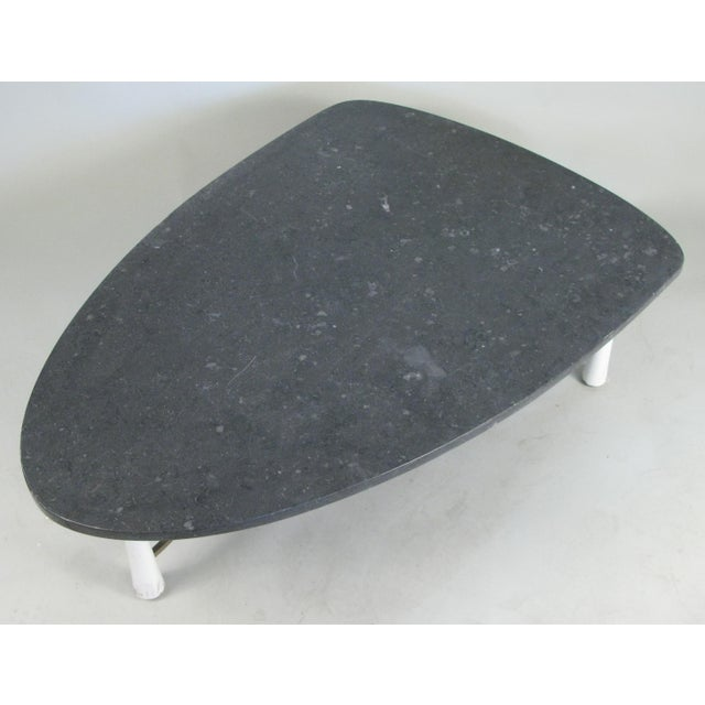 Mid-Century Modern Marble Triangular 1950s Cocktail Table For Sale - Image 3 of 6
