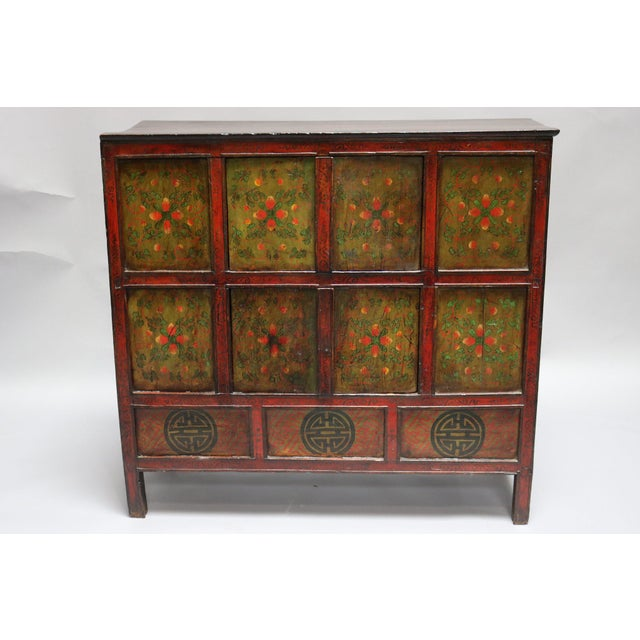 Wood 1920s Tibetan Chest For Sale - Image 7 of 7