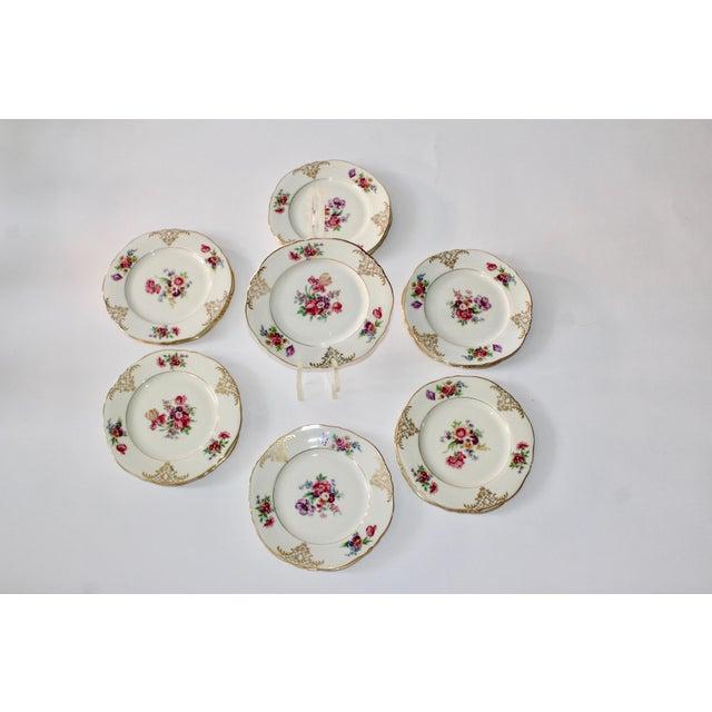 Set of 13 Floral Porcelain Czechoslovakian Epiag Dessert/Bread Plates - Image 11 of 11