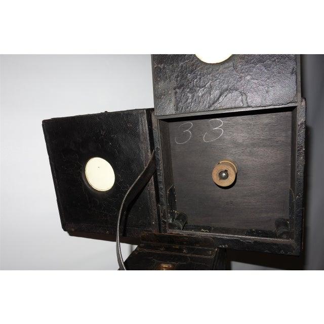 Black Pathe 35mm Professional Type X Cinema Film Studio Camera. Rare Circa 1908-12. One of a Kind. Unrestored. For Sale - Image 8 of 11