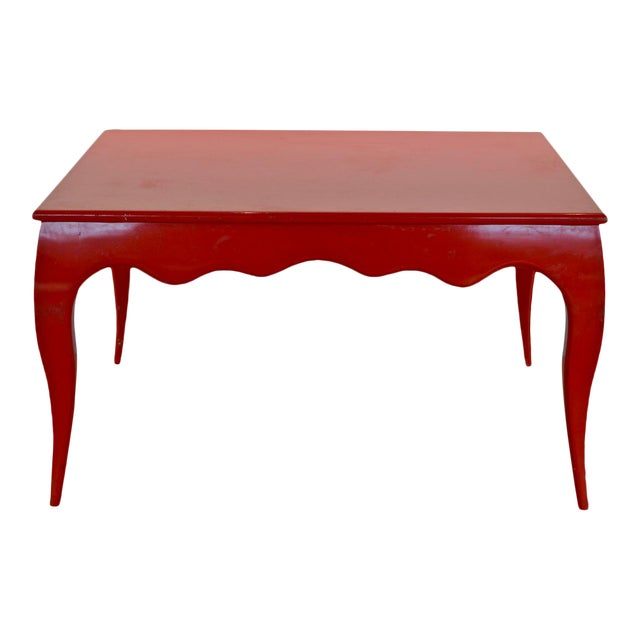 Large Scale Square Dining Table With Cabriole Legs - Image 1 of 8